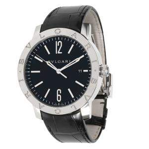 Bvlgari Black Stainless Steel SoloTempo 101867 BB 41 S Men's Wristwatch 41 MM