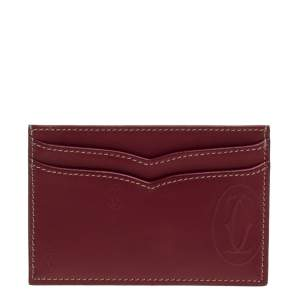Cartier Burgundy Leather Card Holder