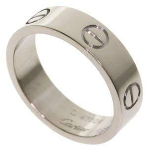 Cartier Love 18K White Gold Ring Size EU 56