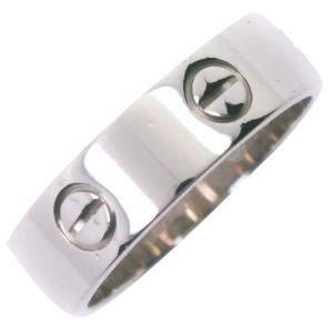 Cartier Love K18 White Gold Ring Size EU 58