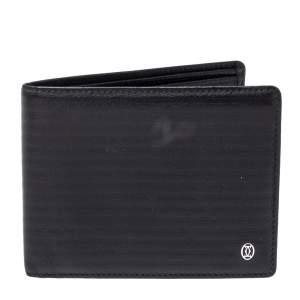 Cartier Black Leather Pasha Bifold Wallet