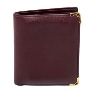 Cartier Maroon Leather Must De Cartier Multiple Wallet