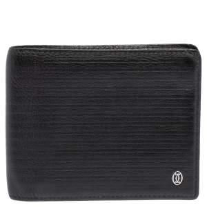 Cartier Black Leather Pasha De Bifold Wallet