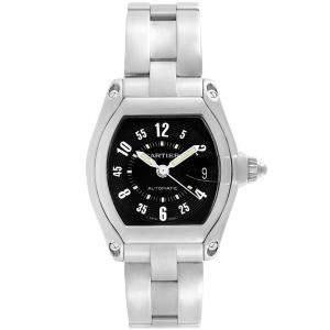 Cartier Black Stainless Steel Roadster W62004V3 Men's Wristwatch 43MM