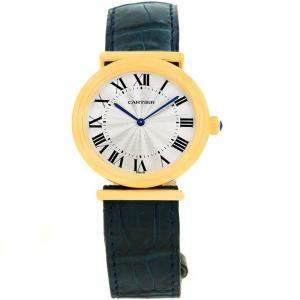 Cartier Silver 18K Yellow Gold Vendome BiPlan W1514457 Men's Wristwatch 32MM