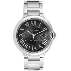 Cartier Black Stainless Steel Ballon Bleu W6920042 Men's Wristwatch 42MM