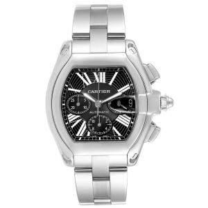 Cartier Black Stainless Steel Roadster XL W62020X6 Men's Wristwatch 49x43 MM