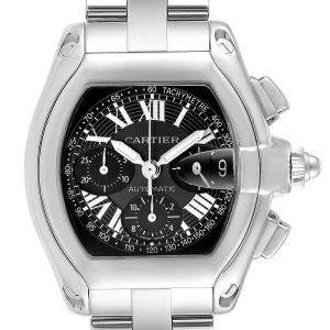 Cartier Black Stainless Steel Roadster Chronograph W62007X6 Men's Wristwatch 49 x 43 MM