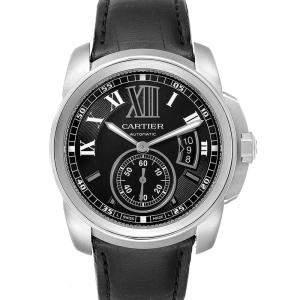 Cartier Black Stainless Steel Calibre W7100014 Men's Wristwatch 42 MM