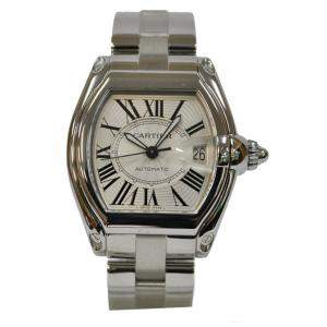 Cartier White Stainless Steel Roadster W6206017 Men's Wristwatch 46 MM