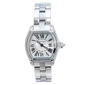 Cartier Silver Stainless Steel Roadster 2675 Women's Wristwatch 31 mm