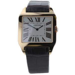 Cartier White 18K Rose Gold Santos Dumont 2650 Manual Winding W2006951 Men's Wristwatch 44 x 34 MM