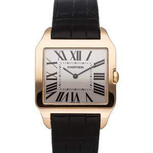 Cartier White 18K Yellow Gold Santos Dumont W2006951 Men's Wristwatch 44 x 34 MM