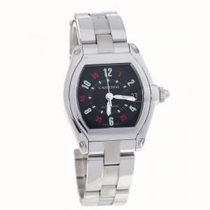 Cartier Black Stainless Steel Roadster 2510 Men's Wristwatch 38 mm