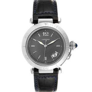 Cartier Gray Stainless Steel Pasha W31017H3 Men's Wristwatch 38 MM