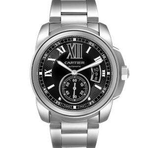 Cartier Black Stainless Steel Calibre de Cartier W7100016 Automatic Men's Wristwatch 42 MM