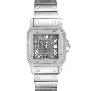 Cartier Grey Stainless Steel Santos Galbee Quartz W20061D6 Men's Wristwatch 29 MM