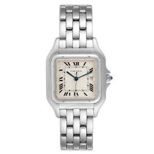 Cartier Silver Stainless Steel Panthere W25032P5 Men's Wristwatch 29 x 29 MM