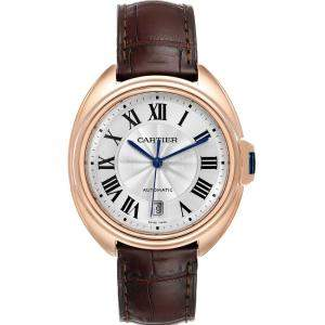 Cartier Flinque 18K Rose Gold Cle Automatic WGCL0004 Men's Wristwatch 40MM
