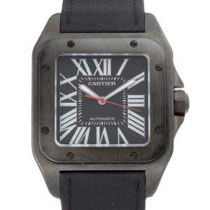 Cartier Black PVD Stainless Steel Santos 100 Wssa0006 Men's Wristwatch 38 MM
