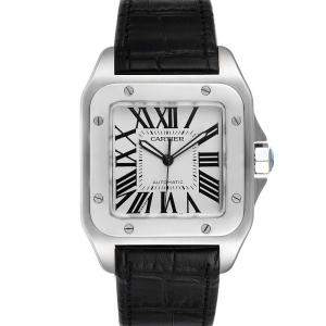 ساعة يد نسائية كارتييه تانك فرنشيسكا W20073X8 ذهب أصفر عيار 18 وستانلس ستيل فضيه 38مم