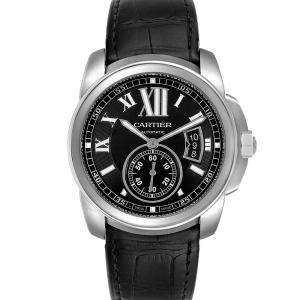 Cartier Black Stainless Steel Calibre W7100041 Men's Wristwatch 42 MM