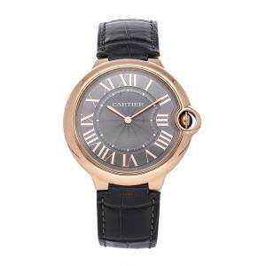 Cartier Grey 18K Rose Gold Ballon Bleu de Cartier W6920089 Men's Wristwatch 40 MM