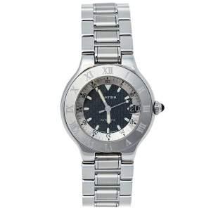 ساعة يد رجالية كارتييه اوتوسكاف 21 2427 أوتوماتيك ستانلس ستيل سوداء 36 مم
