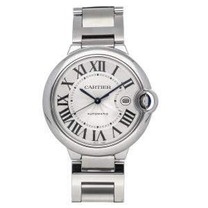 Cartier Silver Stainless Steel Ballon Bleu de Cartier W69012Z4 Men's Wristwatch 42 MM