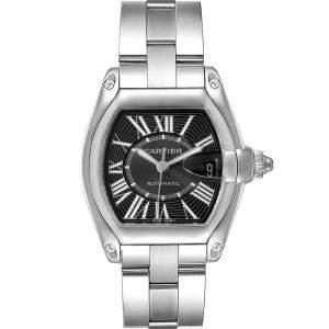 Cartier Black Stainless Steel Roadster W62041V3 Men's Wristwatch 38 x 43 MM