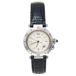 ساعة يد رجالية كارتييه باشا ذو كارتييه 1040 أوتوماتيك ستانلس ستيل فضية 38 مم