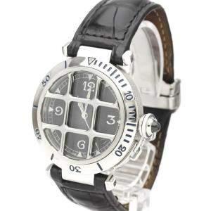 Cartier Black Stainless Steel Pasha De Cartier W3105255 Automatic Men's Wristwatch 38 MM