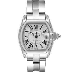 Cartier Silver Stainless Steel Roadster W62025V3 Men's Wristwatch 38 x 43 MM