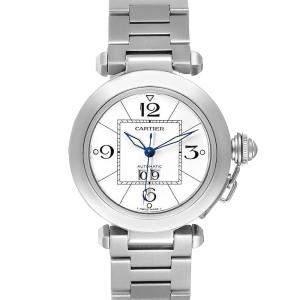 Cartier White Stainless Steel Pasha C W31055M7 Men's Wristwatch 41 MM
