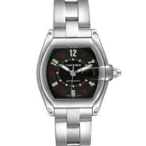 Cartier Black Stainless Steel Roadster W62002V3 Men's Wristwatch 38 x 44 MM