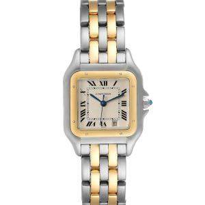 Cartier   Panthere De Cartier Manual WindingCartier Silver 18K Yellow Gold And Stainless Steel Panthere W25028B8 Men's Wristwatch 26 x 36 MM