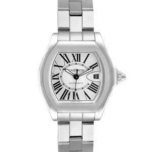 Cartier Roadster Silver Stainless Steel Roadster W6206017 Men's Wristwatch 45 MM