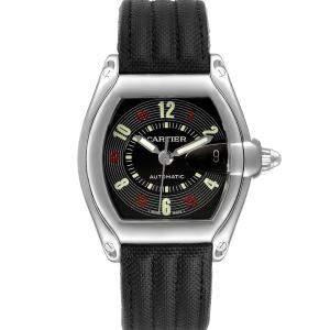 Cartier Black Stainless Steel Roadster Las Vegas W62002V3 Men's Wristwatch 38 x 43 MM