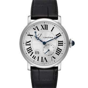 Cartier Silver 18K White Gold Rotonde W1556202 Men's Wristwatch 42 MM