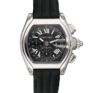 Cartier Black Stainless Steel Roadster 2618 Chronograph Men's Wristwatch 42 MM