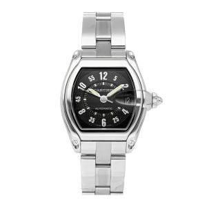 ساعة يد رجالية كارتييه رودستار W62004V3 ستانلس ستيل سوداء 38 x 43 مم