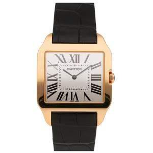 Cartier White 18k Rose Gold Santos Dumont W2020034 Men's Wristwatch 44 x 34 MM