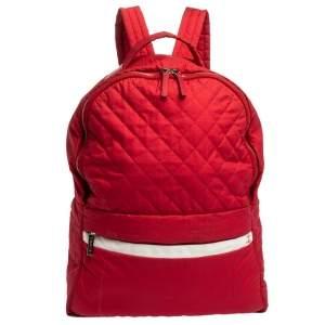 حقيبة ظهر شانيل كوكو كوكون نايلون مبطنة حمراء