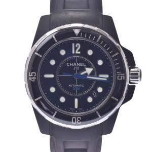 Chanel Black Ceramic J12 Marine Automatic H2558 Men's Wristwatch 42 MM