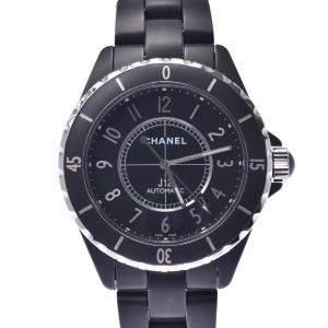 Chanel Black Ceramic J12 Automatic H3131 Men's Wristwatch 42 MM