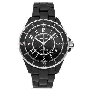 Chanel Black Ceramic J12 H3131 Automatic Men's Wristwatch 42 MM