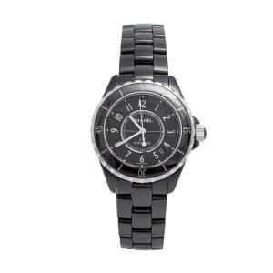 ساعة يد  أوتوماتيك J12 H0685 ستانلس ستيل أسود وسيراميك للجنسين 39 مم