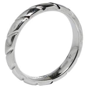 Chaumet Torsade de Chaumet Platinum Wedding Band Ring Size 57