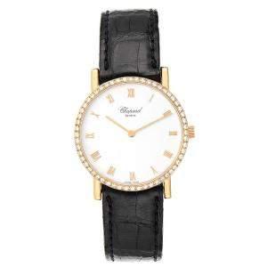 """ساعة يد رجالية شوبارد """"كلاسيك 3154"""" ذهب أصفر عيار 18 و ألماس بيضاء 34 مم"""