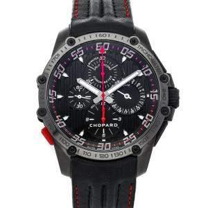 """ساعة يد رجالية شوبارد """"دي أل سي كلاسيك راسينغ سوبرفاست كرونوغراف سبليت سكوند إصدار محدود 168542-3001"""" ستانلس ستيل سوداء 45 مم"""